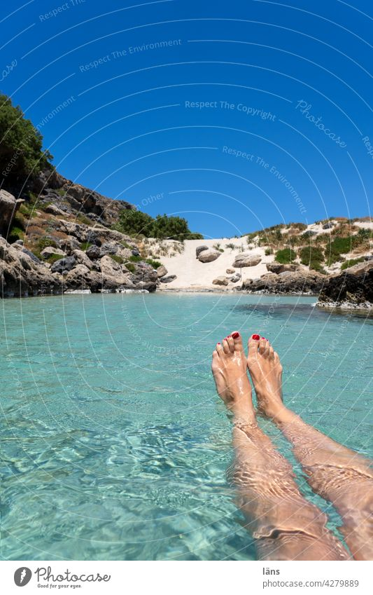 drift on holiday vacation Gorgeous crystal clear Woman Water Ocean nature recreation relax Spot landing Crete bathe coast by oneself