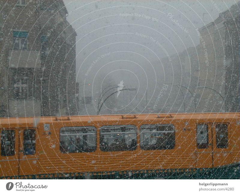 u railway - eberswalder strasse Town Underground Winter Berlin Snow Logistics