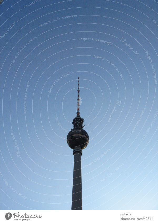 Berlin Large Tower Historic Berlin TV Tower Alexanderplatz
