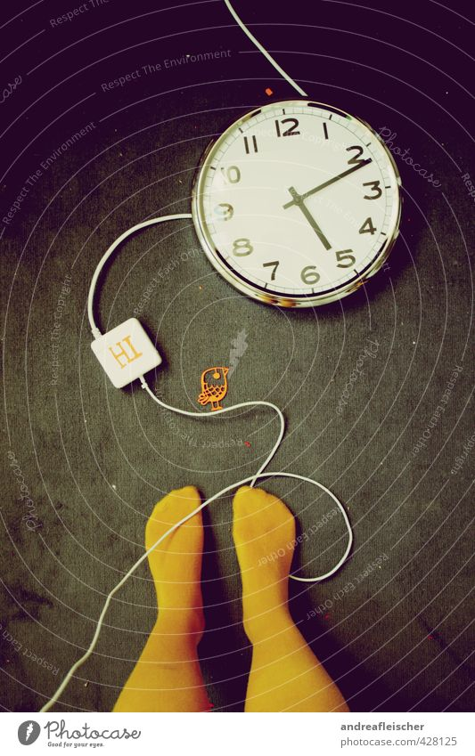 Human being Yellow Dark Legs Fashion Bird Clock Wait Stand Speed Esthetic String Paper Creativity Uniqueness Steel cable