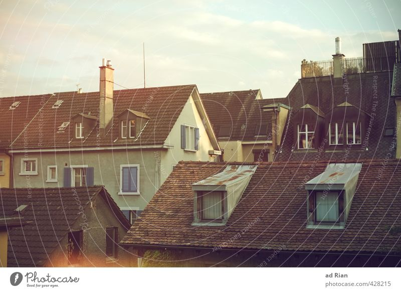 It's All Around You Sky Clouds Summer Beautiful weather Zurich Town Downtown Old town Deserted House (Residential Structure) Manmade structures Architecture