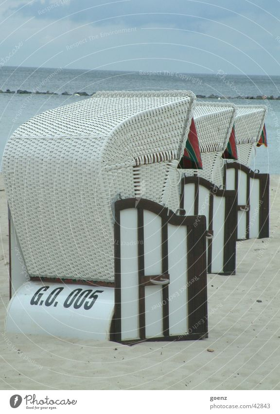 The brazen 3 Beach chair Ocean Rügen Sellin Binz Sea bridge Vacation & Travel Europe Baltic Sea goehren Sand Water