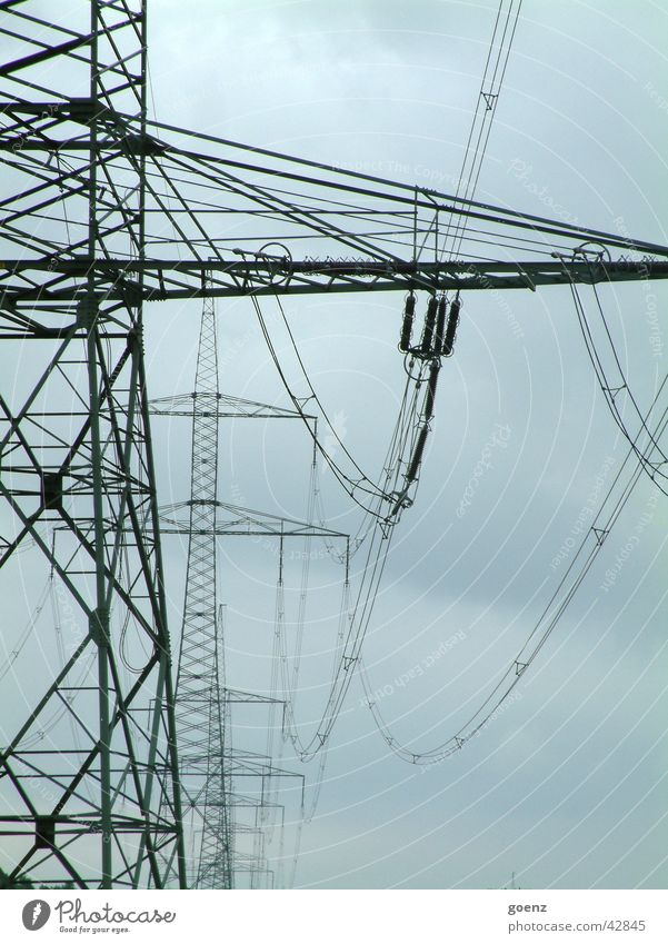 Lanes & trails Industry Energy industry Electricity Electricity pylon High voltage power line Power transmission