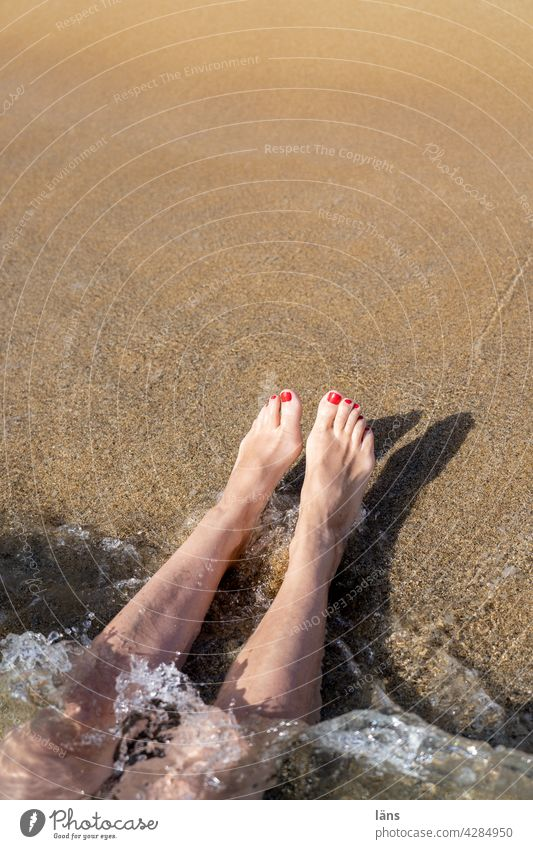 upside down l headfirst into pleasure Beach and sea Woman coast Ocean Vacation & Travel Sand Relaxation Legs Barefoot Adults Water Crete