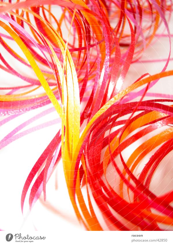 ribbon confusion Red Yellow Pink Orange String Decoration