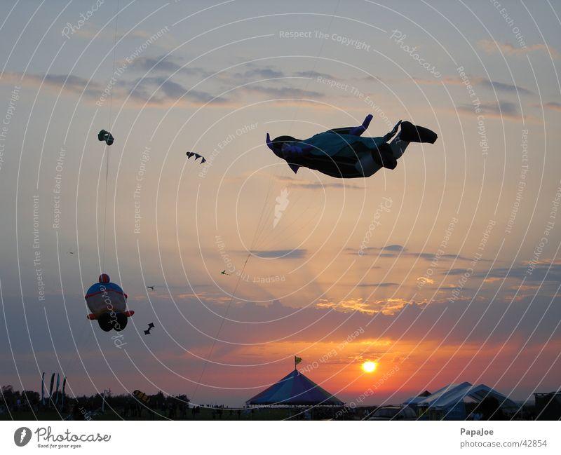 Water Sky Sun Ocean Blue Clouds Lighting Orange Romance Leisure and hobbies Dragon Kite festival