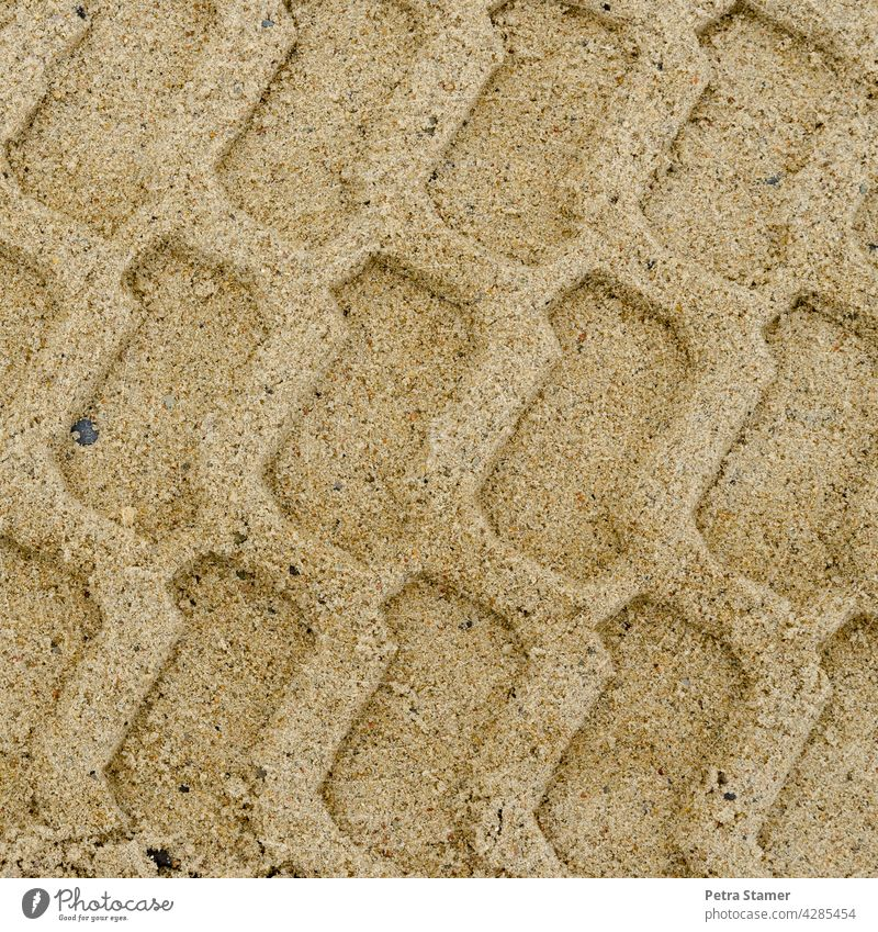 Traces in the sand Sand Tracks traces in the sand Structures and shapes Pattern Beach Sandy beach Exterior shot Light brown Beige Unicoloured Deserted nobody