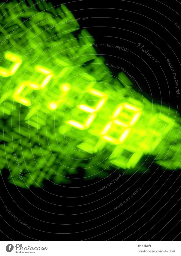 time collapses Time Dark Whirlpool Black Night Long exposure Digits and numbers Neon green neon Reaction Blur