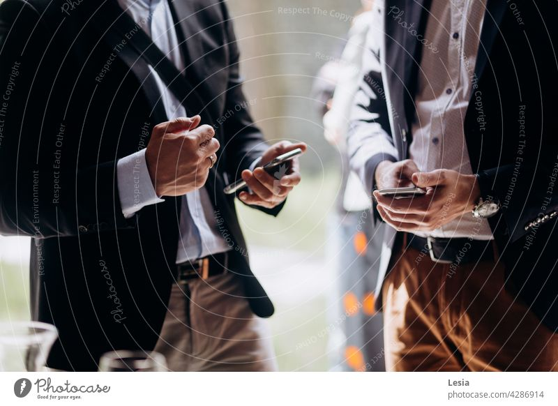Business conversation! Office dress code work office man Conference Discussion solution Messenger Style working Communication men calls lunch break