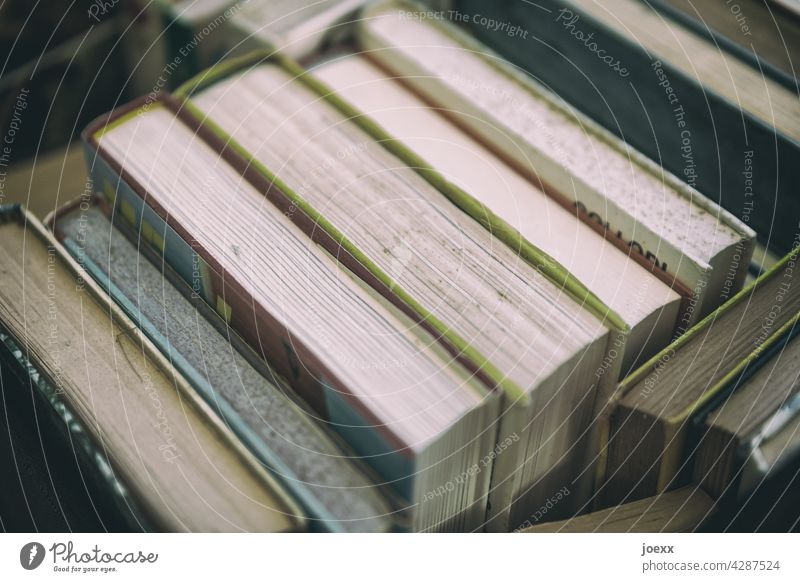 Books with patina books Old plan Stack Many Reading Reading matter Literature Know Education Study book collection Collection Wisdom Science & Research Paper