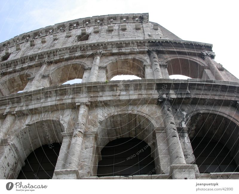 Colosseum in Rome Forum Romano Historic Gladiator Execution Temple of Ceasar Circus Wild animal Römerberg Past Bread and games