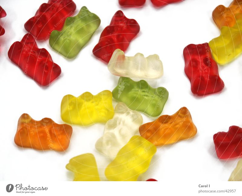 Green White Red Colour Yellow Orange Lie Nutrition Sweet Candy Muddled Dentist Bear Rubber Lick Unhealthy