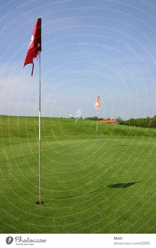 Sky Green Blue Sports Flag Golf Hollow Golf course