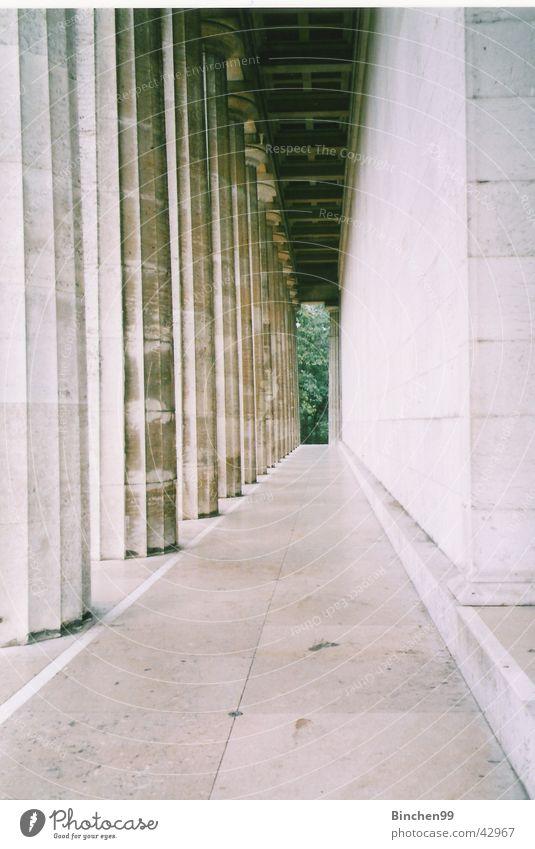 Green Stone Lanes & trails Architecture Vantage point Column Vanishing point Regensburg Walhalla