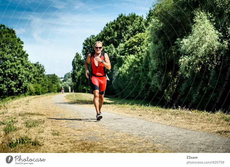 Triathlon | AK 60 | Running Athletic Summer Sports Sportsperson Sporting event Jogging Running sports Endurance Masculine Male senior Man 60 years and older