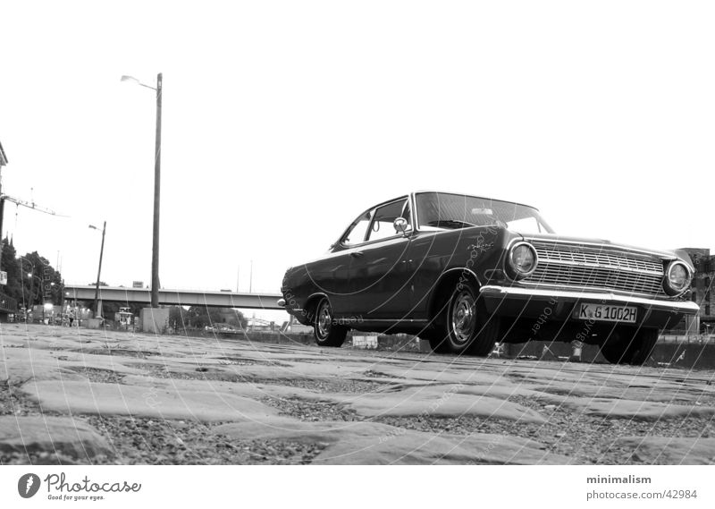 back then. Coupé Worm's-eye view Transport Opel Record record a 1964