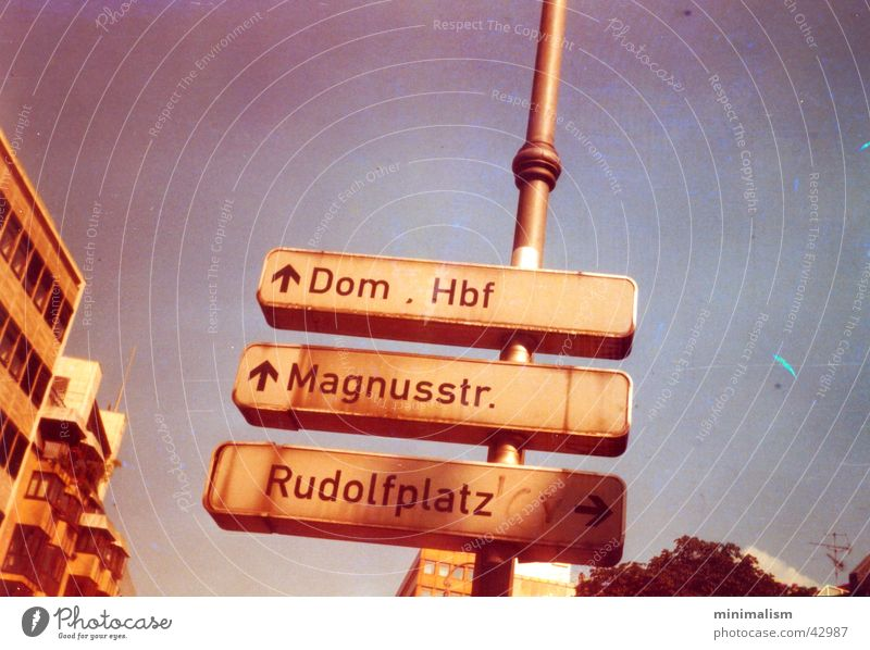groundbreaking Cologne Central station Lomography Transport Frisian Square rudolf course Dome Signs and labeling Road marking smena smena sl