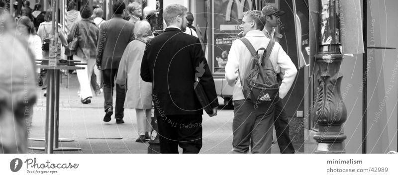 Human being Joy To talk Group Pedestrian precinct