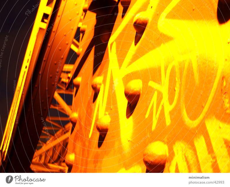 Graffiti Metal Transport Railroad Steel Broken Rivet Hohenzollern