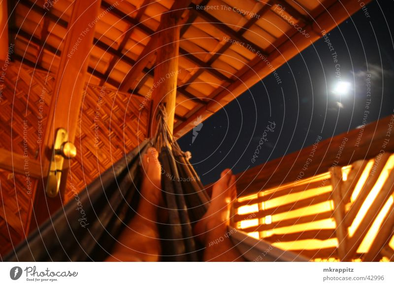 Chilling in Brazil Night Hammock Itacaré Hotel Balcony Relaxation Vacation & Travel South America Moon