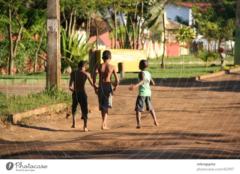 Child Summer Vacation & Travel Street Boy (child) Playing Brazil South America Salvador de Bahia Pothole Itacaré