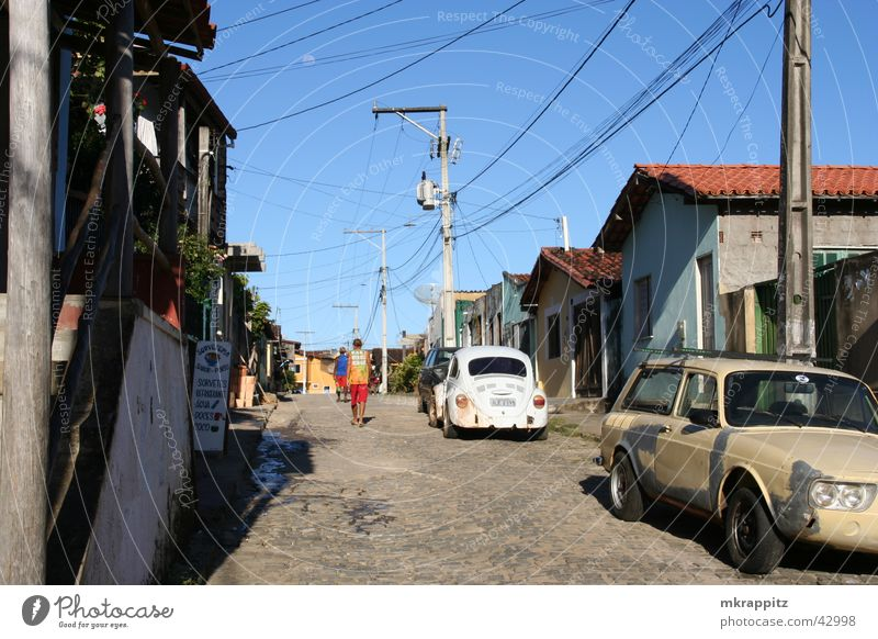 Roads of Itacare Brazil Itacaré South America Salvador de Bahia Street Old Shabby Car Summer Sun
