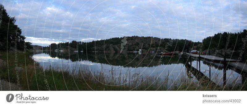 Water Ocean Dream Lake Large Europe Footbridge Sweden Panorama (Format) Scandinavia