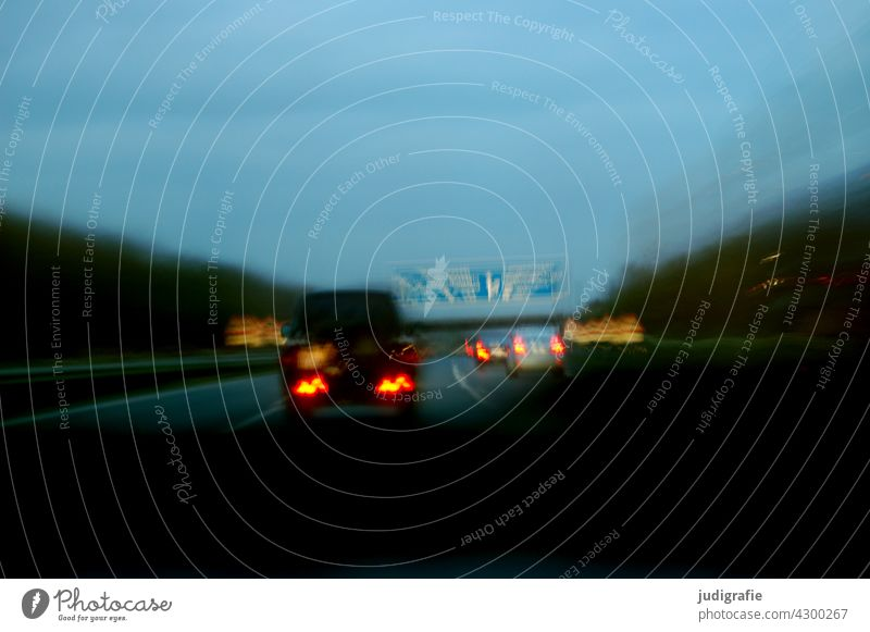 freeway Highway travel Transport Speed Car Night Driving Movement Road traffic Means of transport Vehicle Mobility Traffic infrastructure Street Motoring