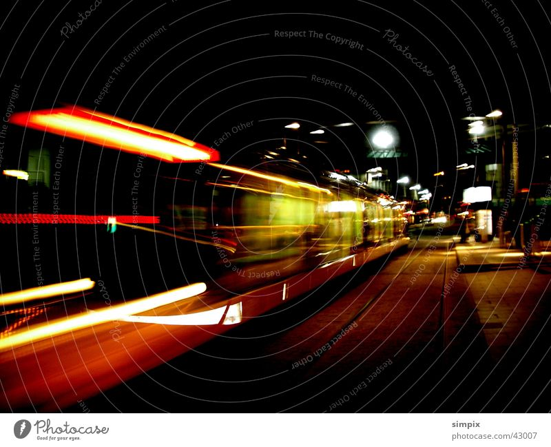 Strasbourg de nuit Night Tram Long exposure Station L'HOMME DE FER