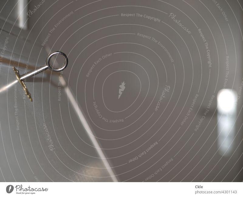 Key and locked Lock door Door handle door handle Safety Closed Entrance Old Wooden door Front door Structures and shapes Metal Door lock Keyhole Detail White