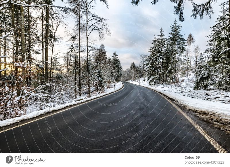 Winter Streets ice road frost season wood sky snow forest winter cold nature outdoor landscape white day frozen street snowy country way scene weather trees