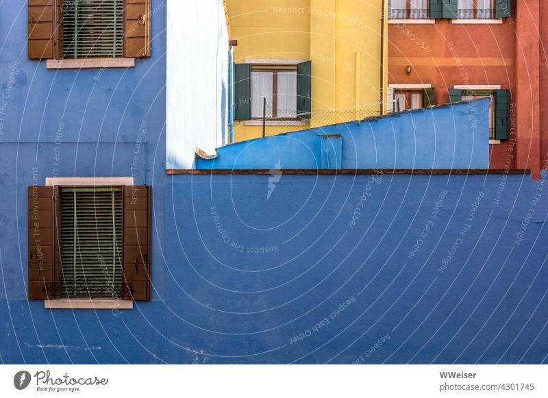 Colourful houses of a famous holiday resort in the south of Europe Facades variegated colored colourful Window South vacation holidays Italy Vacation & Travel