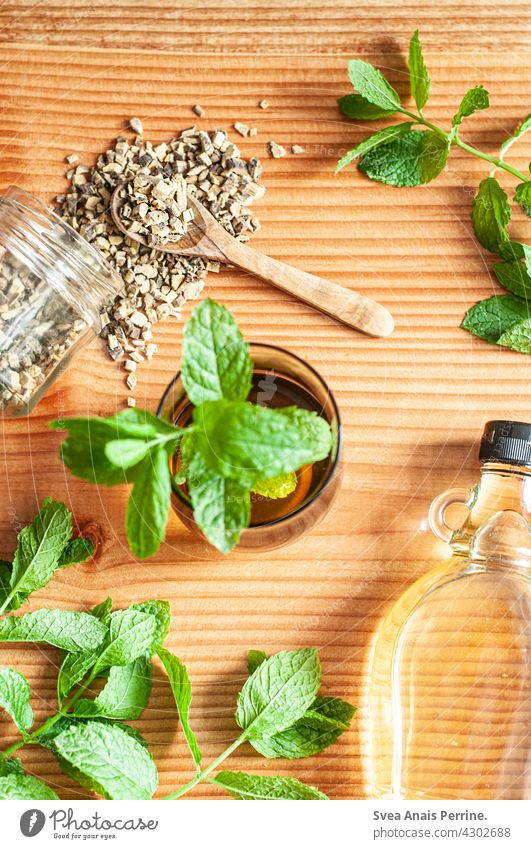 Licorice Mint Tea Beverage peppermint Mint leaf Healthy liquorice Licorice root agave syrup cute Alternatives Alternative medicine Healthy Eating salubriously