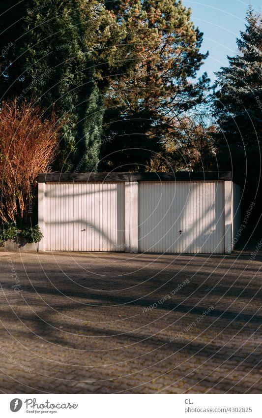 double garage Garage Garage door Places Parking lot Closed