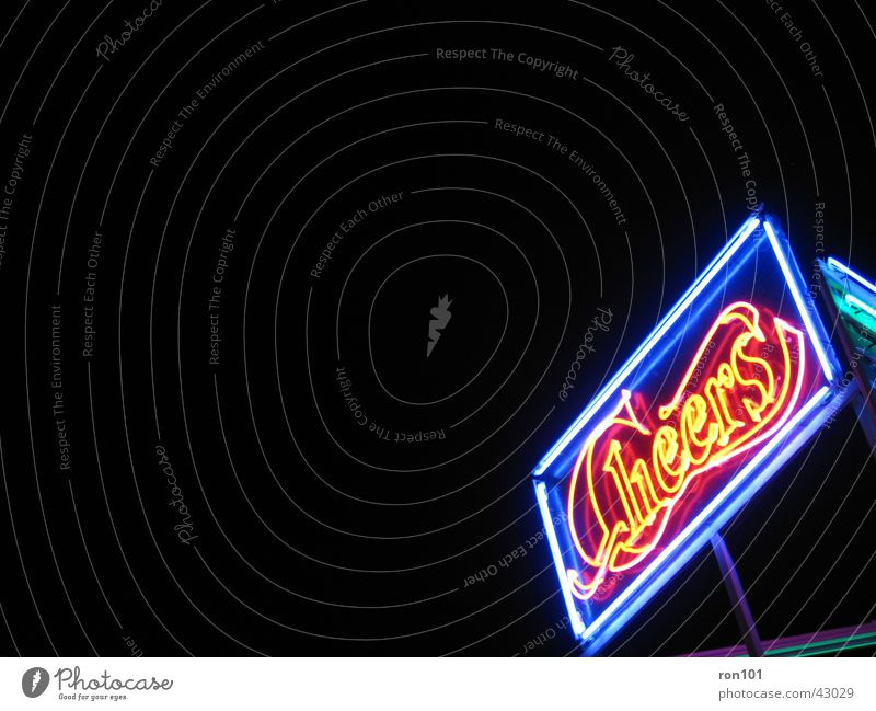 cheers Advertising Neon light Neon sign Black Red Leisure and hobbies Blue
