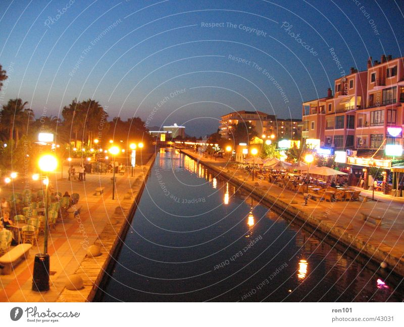 NightRiver Alcudia Majorca Dark Europe Evening Lighting Sky Blue