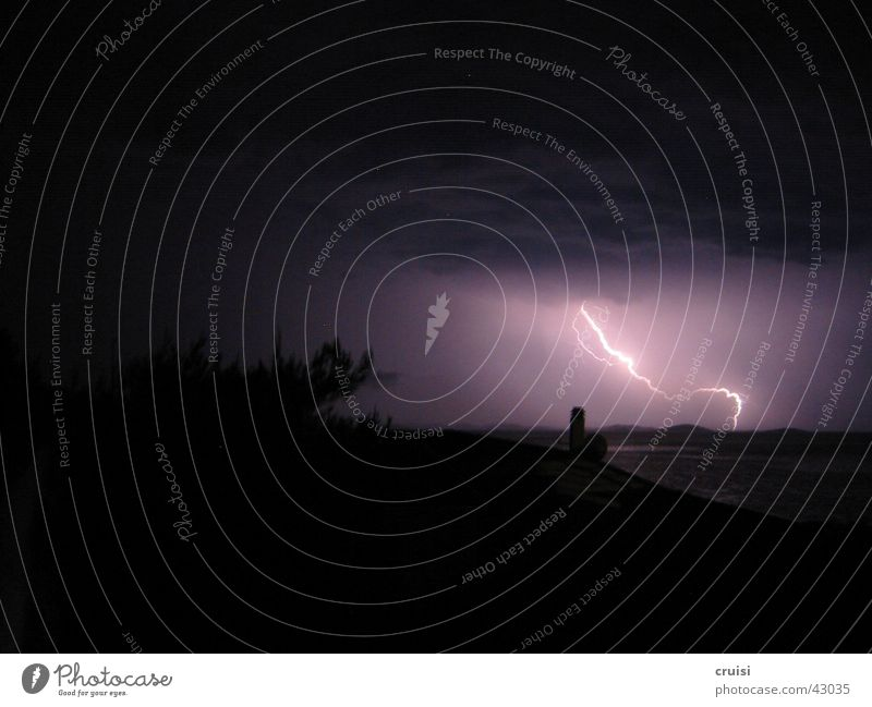 Flash 1 Lightning Thunder Dark Night Clouds Storm Gale Croatia Thunder and lightning