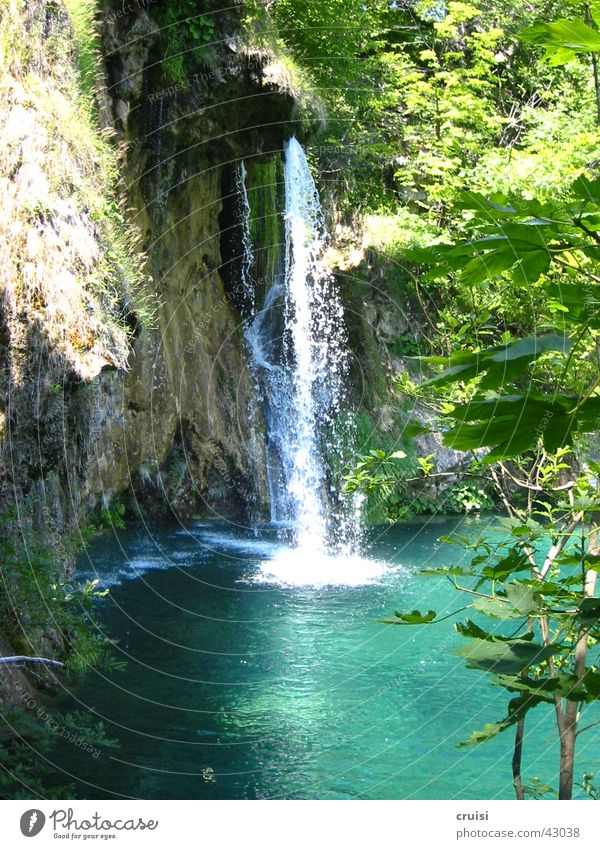waterfall White crest Wet Green National Park Croatia Oasis Waterfall Nature plitvice Paradise