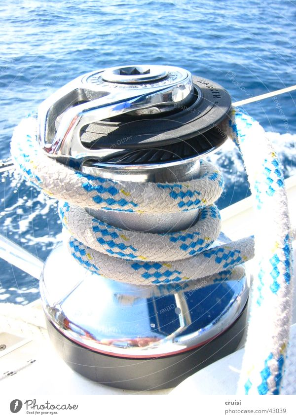 strip puller Sailing Rope Ocean Sports Water set sail Adriatic Sea Blue