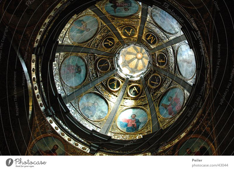 Hail Mary... Ave Maria Domed roof Ceiling fresco House of worship Religion and faith Blanket