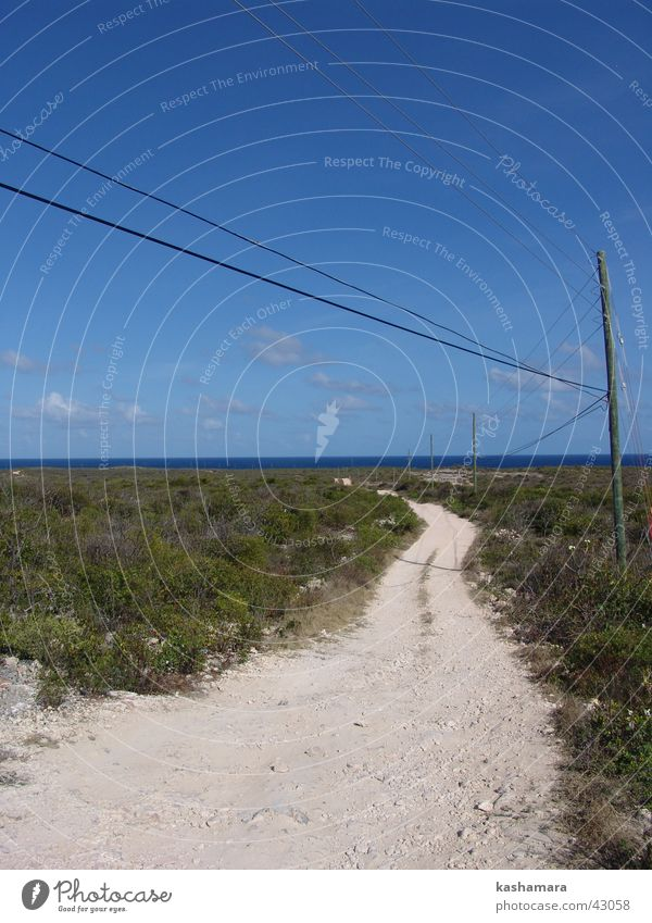 White Sun Ocean Green Blue Summer Vacation & Travel Far-off places Street Freedom Stone Lanes & trails Sand Earth Island Cable