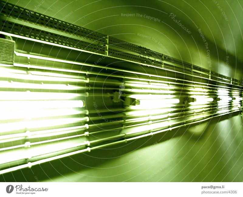 light highway Neon light Green Photographic technology perspective Underground Cable