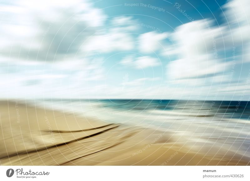 fresh breeze Vacation & Travel Far-off places Nature Landscape Elements Sand Air Water Sky Clouds Horizon Climate Weather Beautiful weather Waves Coast Beach