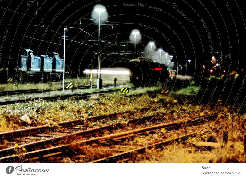 the last silence Railroad Railroad tracks Long exposure White Black Green Blue