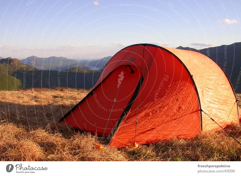 Summer Loneliness Mountain Freedom Lanes & trails Hiking Vantage point Camping Tent Expedition Protection Drift