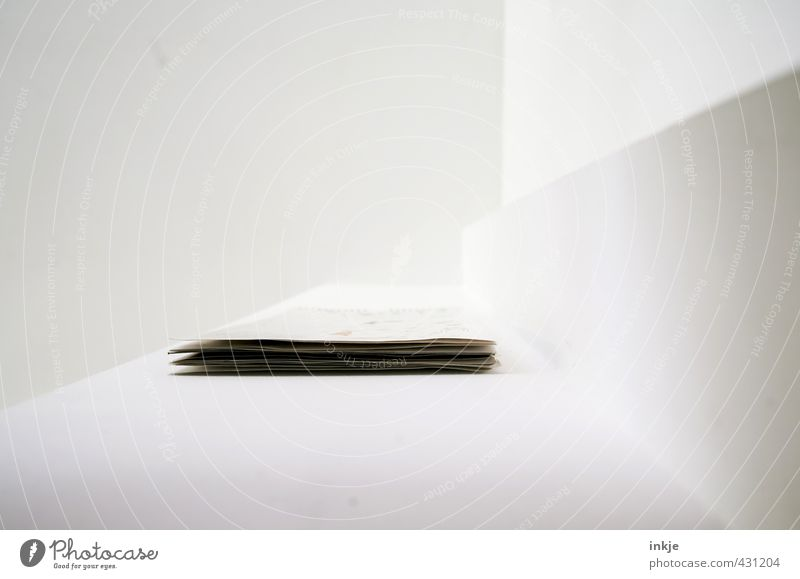 a question of perspective II Living or residing Flat (apartment) Decoration Room Ceiling Corner Level Paper Piece of paper Calendar Hang Lie Exceptional Bright