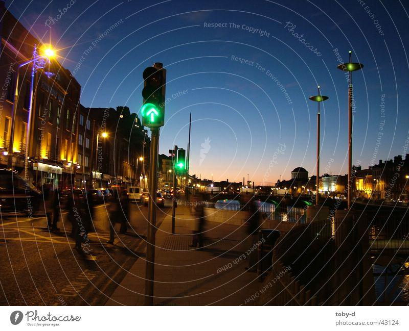 Aston Quai Dublin Liffey Sunset Europe go red Ireland River aston quai Millenium Bridge