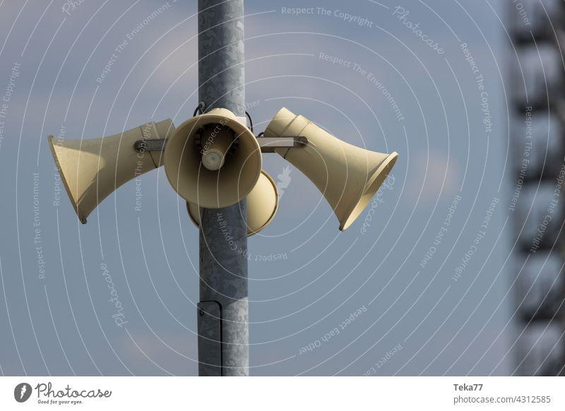The loudspeakers Loudspeaker audio Voice Warn Alarm Megaphone announcement Music
