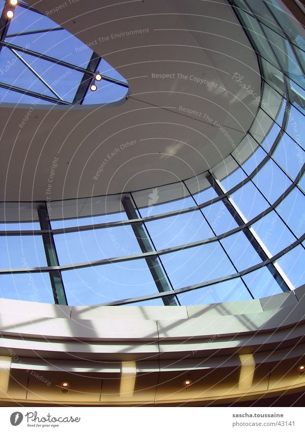 Coloured skylight Skylight Light Aspire Middle Harburg Yellow White Gray Architecture Shadow Lighting reflection PhoenixCenter Shopping malls Blue ...