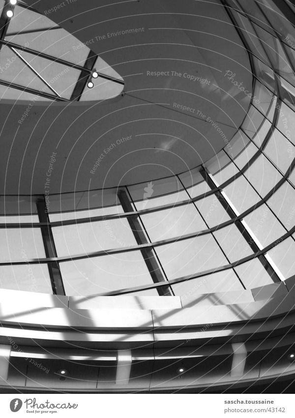 Skylight in grayscale Light Aspire Middle Harburg Gray scale value Architecture Shadow Lighting reflection PhoenixCenter Shopping malls ...